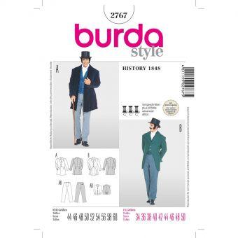 Patron Burda Cranaval 2767 - Déguisement Historique  époque 1848 Homme