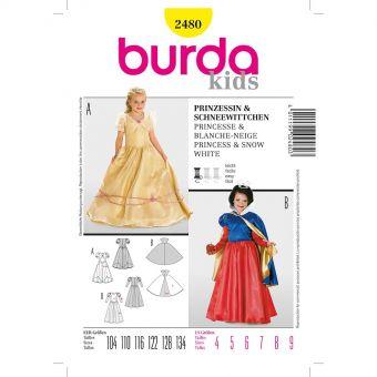 Patron Burda Carnaval 2480 - Déguisement Historique Princesse et Blanche - Neige enfant