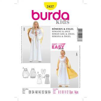 Patron Burda Carnaval 2437 - Déguisement Dame romaine et  Ange enfant