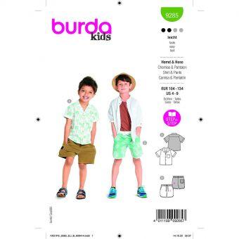 Patron Burda 9285 - Short et Chemise enfant garçon du 104 au 134 cm