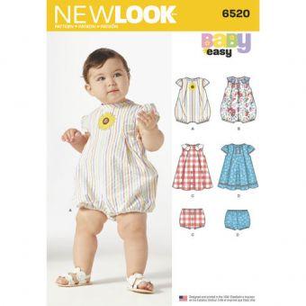 Patron New Look 6520 Ensemble bébé
