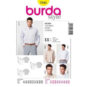 Patron Burda 7045 Chemise homme
