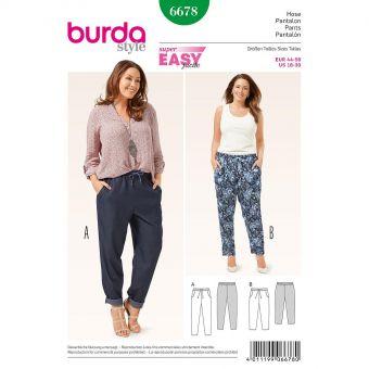 Patron Burda 6678 Pantalon