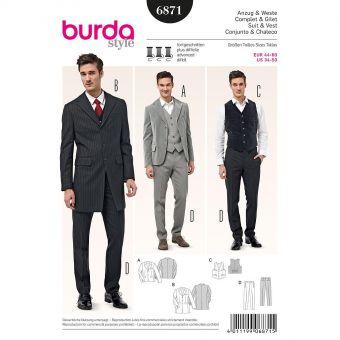 Patron Burda 6871 Costume complet et gilet