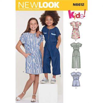 Patron New Look 6612 Combinaison pour fille