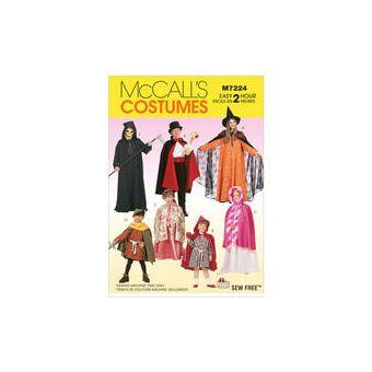 Patron Mc Call's 7224 - Déguisement Enfant, cape et tunique de 3 à 12 ans