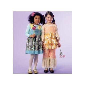 Patron Mc Call's 7183 - Ensemble Fille robe, haut et pantalon de 2 à 8 ans