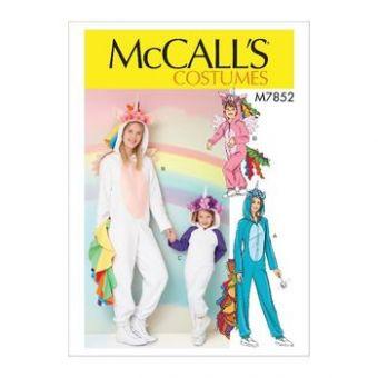Patron Mc Call's 7852 - Déguisement Licorne Femme et Fille du 36 au 50 et de 3 à 14 ans