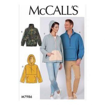 Patron Mc Call's 7986 - Veste, Blouson Adultes Mixte du 38 au 60