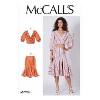 Patron Mc Call's 7984 - hauts et jupes pour jeune femme tailles du 32 au 48