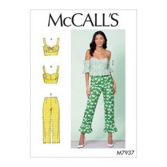 Patron Mc Call's 7937 -  Top style bustier et Pantalon  du 34 au 50