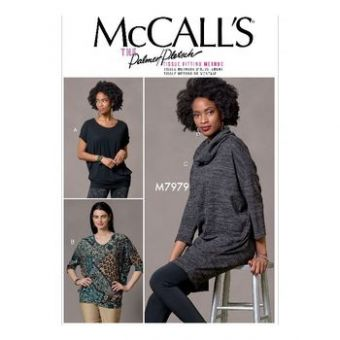 Patron Mc Call's 7979 - hauts et tunique pour jeune femme tailles du 36 au 52