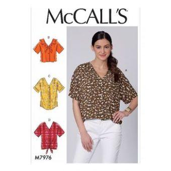 Patron Mc Call's 7976 - hauts pour jeune femme tailles du 34 au 50
