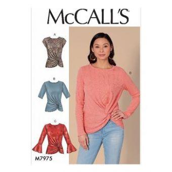Patron Mc Call's 7975 - hauts pour jeune femme tailles du 34 au 52