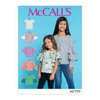 Patron Mc Call's 7799 - Hauts à variations de manches Fille de 3 à 14 ans