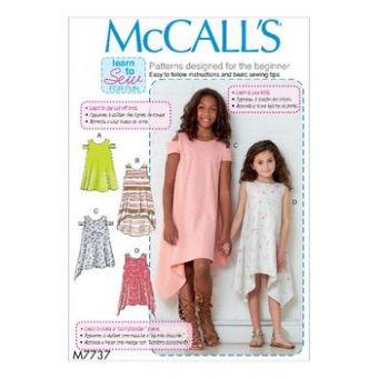 Patron Mc Call's 7737 - Robe ample Fille de 3 à 14 ans
