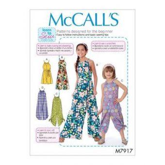 Patron Mc Call's 7917 - Combinaison Fille de 3 à 14 ans