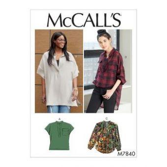 Patron Mc Call's 7840 - Blouse Femme du 36 au 52