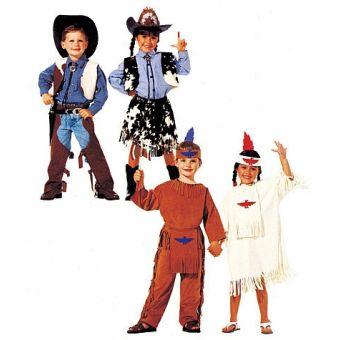 Patron McCall's 7226 Patron de costumes de Western et d'Amérindiens pour enfant