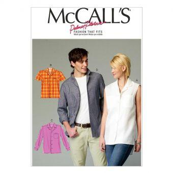 Patron McCall's 6932 Chemises boutonnées pour femmes / hommes