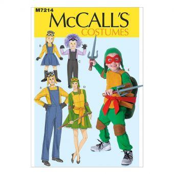 Patron McCall's 7214 Costumes de dessins animés pour enfants et adultes