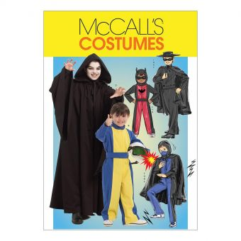 Patron McCall's 5952 costumes de super - héros pour garçons