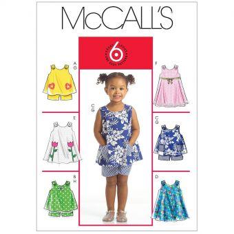 Patron McCall's 5416 Robe fille 1 à 4 ans