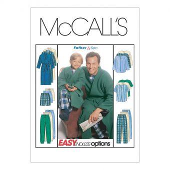Patron McCall's 6236 Patron de pyjamas pour adultes et enfants