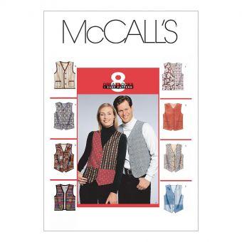 Patron McCall's 6228 Gilets de costume pour femmes / hommes