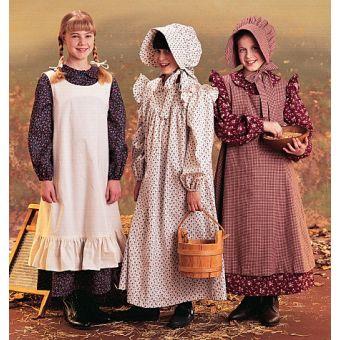 Patron McCall's 7231 Costumes de pionnier pour filles