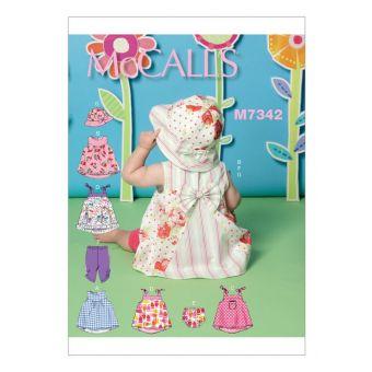 Patron McCall's 7342 Robes, culottes, leggings et chapeau sceau pour bébé