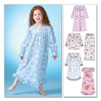 Patron McCall's 7221 Ensembles de pyjamas pour filles