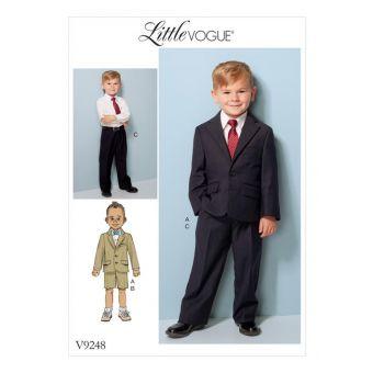 Patron Vogue 9248 Vogue 9248 Veste, short et pantalon pour garçonnet de 2 à 8 ans