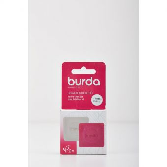 Set de 2 craies tailleurs Burda - Blanc et Rose