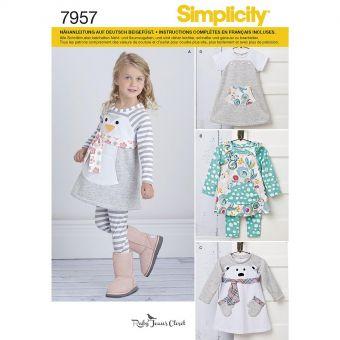 Patron Simplicity 8270 Robe et ensemble fillette