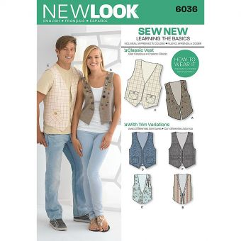 Patron New Look 6036 Gilet