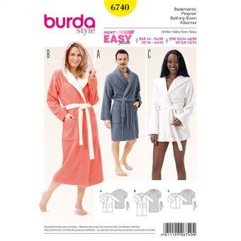 Patron Burda 6740 Peignoir