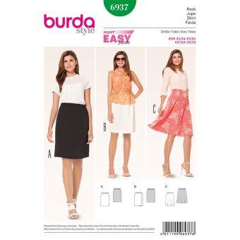 Patron Burda 6937 Jupe