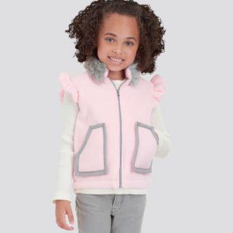 Patron Simplicity 9193 - Blouson Enfant sans manches de 97 à 132 cm