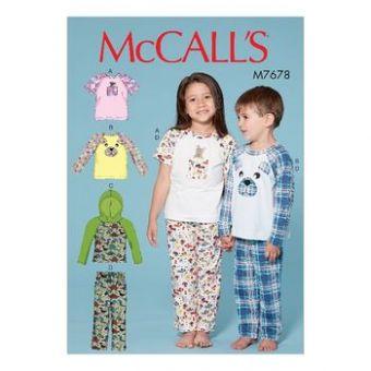 Patron Mc Call's 7678 - Ensemble de nuit pour enfants de 2 à 8 ans