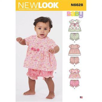 Patron New Look 6628 Ensemble tunique et culotte pour bébés de 1 à 18 mois