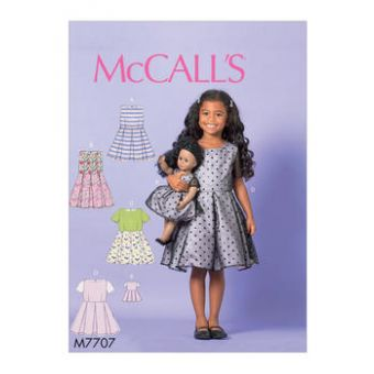 Patron Mc Call's 7707 - Robe fille et poupée de 2 à 8 ans