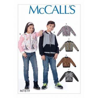 Patron Mc Call's 7619 - Veste pour enfant de 3 à 14 ans