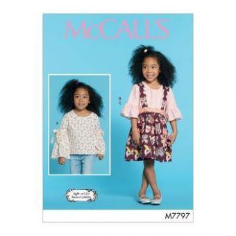 Patron Mc Call's 7797 - Ensemble Haut et jupe Fille de 2 à 8 ans