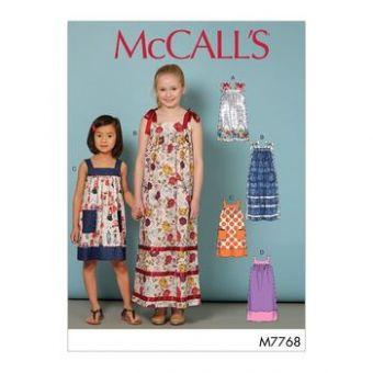 Patron Mc Call's 7768 - Robe à bretelles Filles de 3 à 14 ans