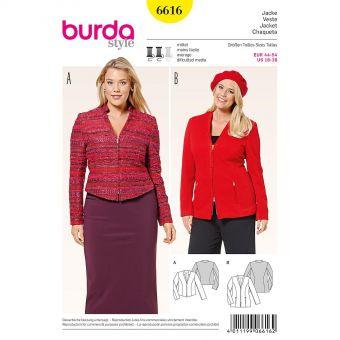 Patron Burda 6616 Veste