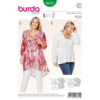 Patron Burda 6615 Blouse