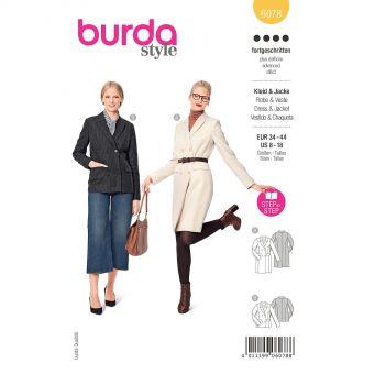 Patron Burda 6078 - Robe blazer et veste – croisée avec revers du 36 au 46