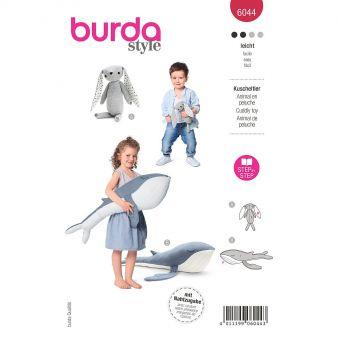 Patron Burda 6044- Peluches - lapin et baleine