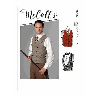Patron McCall's 8133 Costume Homme de Gilets divers du 36 au 56